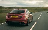 Alfa Romeo Giulia Quadrifoglio 2020 UK first drive review - hero rear