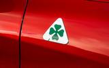 Alfa Romeo Stelvio Quadrifoglio 2018 UK RHD first drive - cloverleaf badge