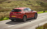 Alfa Romeo Stelvio Sprint 2020 UK first drive review - hero rear