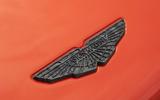 Aston Martin DBS Superleggera Volante 2019 first drive review - bonnet badge