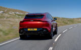 Aston Martin DBX 2020 UK first drive review - hero rear