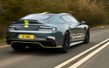 Aston Martin Rapide AMR 2019 UK first drive review - hero rear