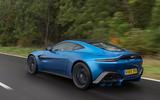Aston Martin Vantage manual 2019 first drive review - hero rear