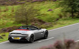 Aston Martin Vantage Roadster 2020 UK first drive review - hero rear