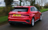 Audi A3 TFSIe 2020 UK first drive review - hero rear