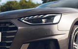 Audi A4 35 TFSI 2019 UK first drive review - headlights