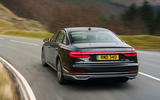 Audi A8 60 TFSIe 2020 UK first drive review - hero rear