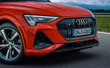Audi E-tron S Sportback 2020 first drive review - front end