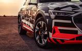 Audi e-Tron 2019 prototype first drive review - front detal