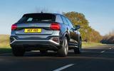 Audi Q2 35 TFSI Sport 2020 UK first drive review - hero rear