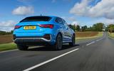 Audi Q3 Sportback 2019 UK first drive review - hero rear