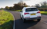 Audi Q5 40 TDI Sport 2020 UK first drive review - hero rear
