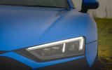 Audi R8 2019 UK first drive review - headlights
