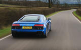 Audi R8 RWD 2020 UK first drive review - tracking rear