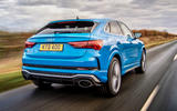 Audi RS Q3 Sportback 2019 UK first drive review - hero rear