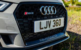 Audi RS3 Sportback 2019 UK first drive review - front grille