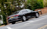 Audi S8 2020 UK first drive review - hero rear