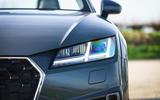Audi TT Roadster 2019 UK first drive review - headlights
