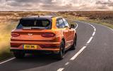 Bentley Bentayga 2020 UK first drive review - hero rear