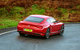 Bentley Continental GT V8 2020 UK first drive review - hero rear