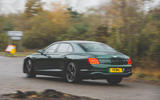 Bentley Flying Spur 2020 UK first drive review - hero rear