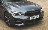 BMW 3 Series 330i 2019 UK review - front end