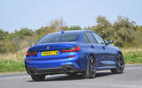 BMW 3 Series 320d 2019 UK first drive review - hero rear