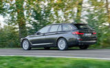 BMW 5 Series 2020 UK (LHD) first drive review - hero rear