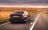BMW 5 Series M550i 2020 UK first drive - hero rear