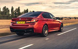BMW M5 Competition 2020 UK first drive review - hero rear