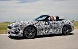 BMW Z4 prototype drive 2018 hero side