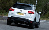 Citroen C5 Aircross Hybrid 2020 UK first drive review - hero rear