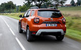 3 Dacia Duster 2021 facelift first drive hero rear