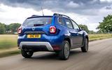 Dacia Duster Bi-Fuel 2020 UK first drive review - hero rear