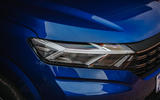 3 Dacia Sandero BiFuel 2021 UK first drive headlights