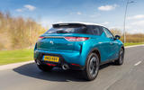 DS 3 Crossback 2019 UK first drive review - hero rear