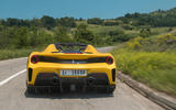 Ferrari 488 Pista Spider 2019 first drive review - hero action rear