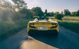 Ferrari F8 Tributo Spider 2020 UK first drive review - hero rear