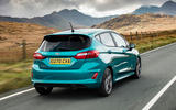Ford Fiesta EcoBoost mHEV 2020 UK first drive review - hero rear