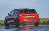 Ford Focus ST automatic 2020 UK first drive review - hero rear