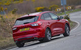 Ford Kuga ST-Line PHEV 2020 UK first drive review - hero rear