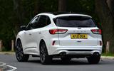 3 Ford Kuga Ecoblue MHEV 2021 UK first drive hero rear