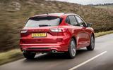 3 Ford Kuga FHEV 2021 UK FD hero rear