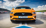 Ford Mustang GT 5.0 2018 UK review front end
