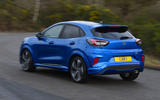 Ford Puma ST Line X 2020 UK first drive review - hero rear
