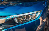 Honda Civic saloon 2018 UK first drive review headlights
