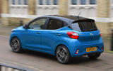 Hyundai i10 2020 UK first drive review - hero rear
