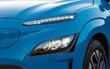 3 Hyundai Kona Electric 2021 UK first drive review headlights