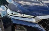 Hyundai Santa Fe 2018 UK first drive review - headlights