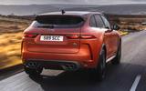 3 Jaguar F Pace SVR 2021 UK first drive review hero rear